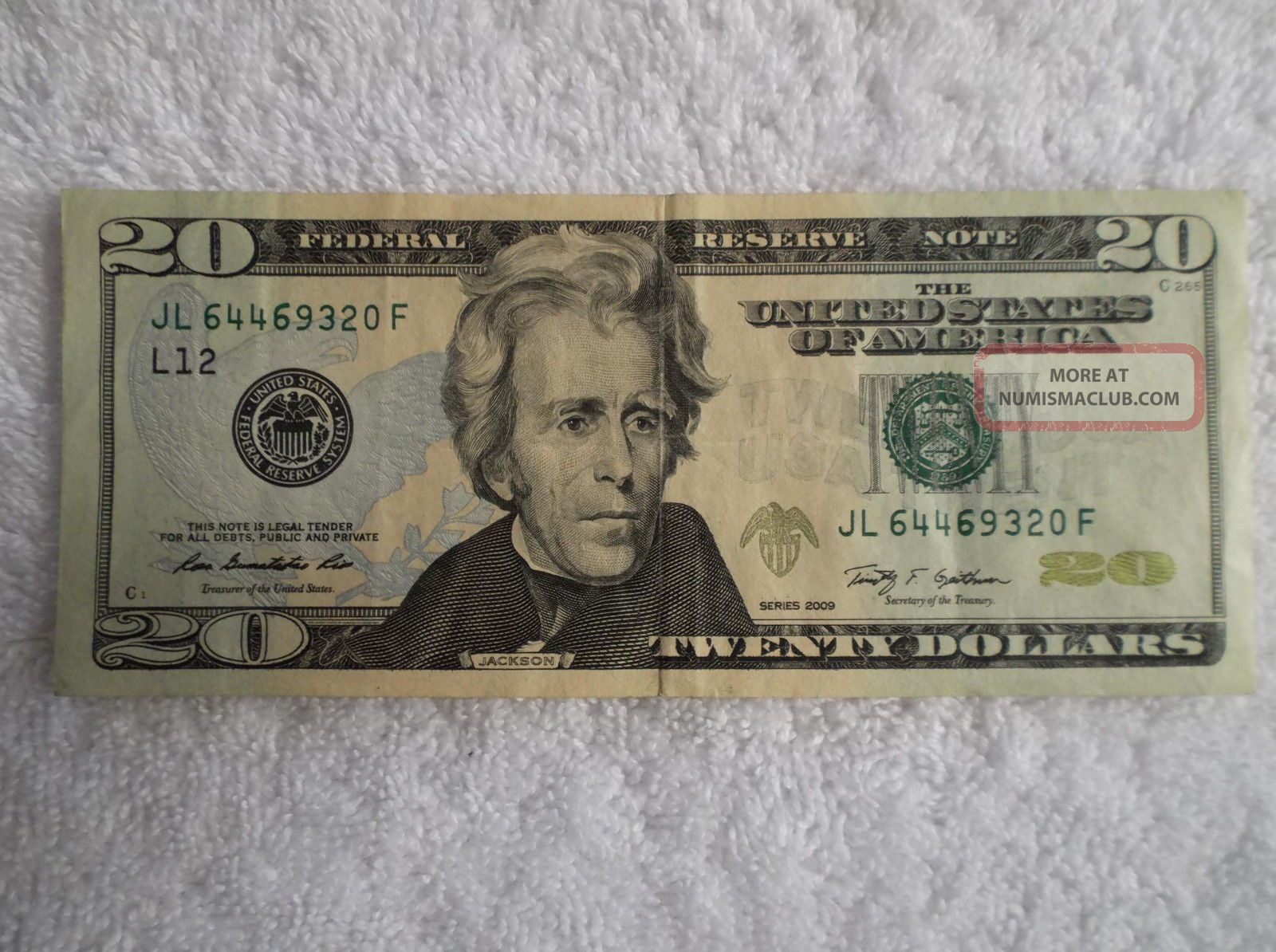 dollar bills with serial numbers in order