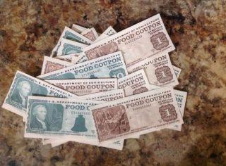 Real $1,  $10 Usda Food Stamp Coupons photo