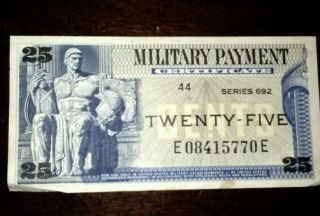 25 Cent Military Payment Certificate photo