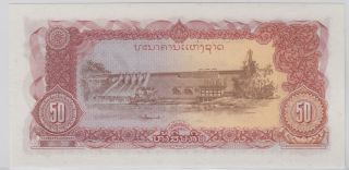 Lao - Bank Of The Lao Pdr 1979 Nd; 1988 Issue 50 Kip - Pick 29 photo