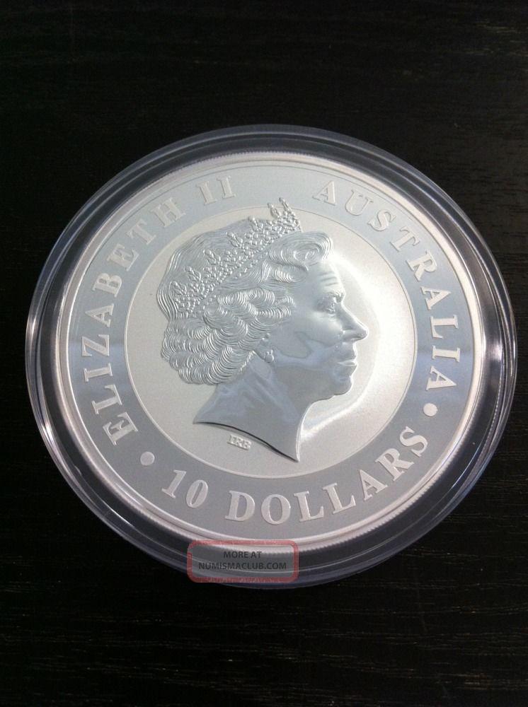 2014 Kookaburra 10 Oz Silver Bullion Coin Perth Australia