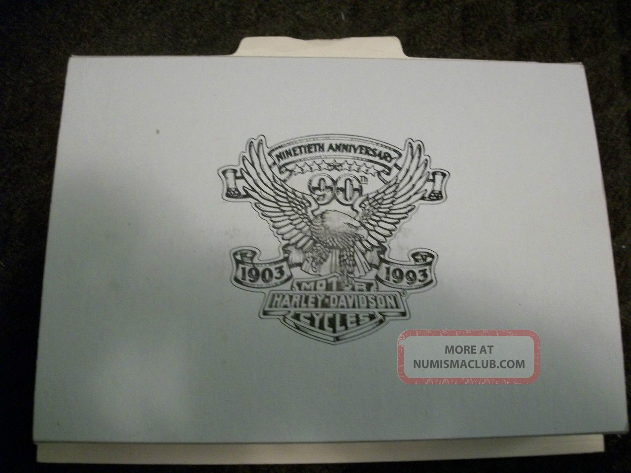 Harley Davidson 1903 1993 90th Anniversary 24 1 4 Ounce