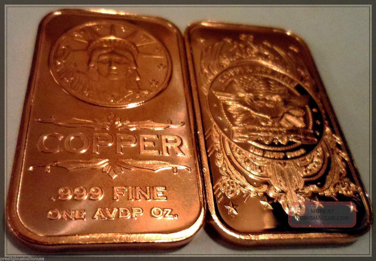 LADY LIBERTY   1 oz Copper Bullion Bar
