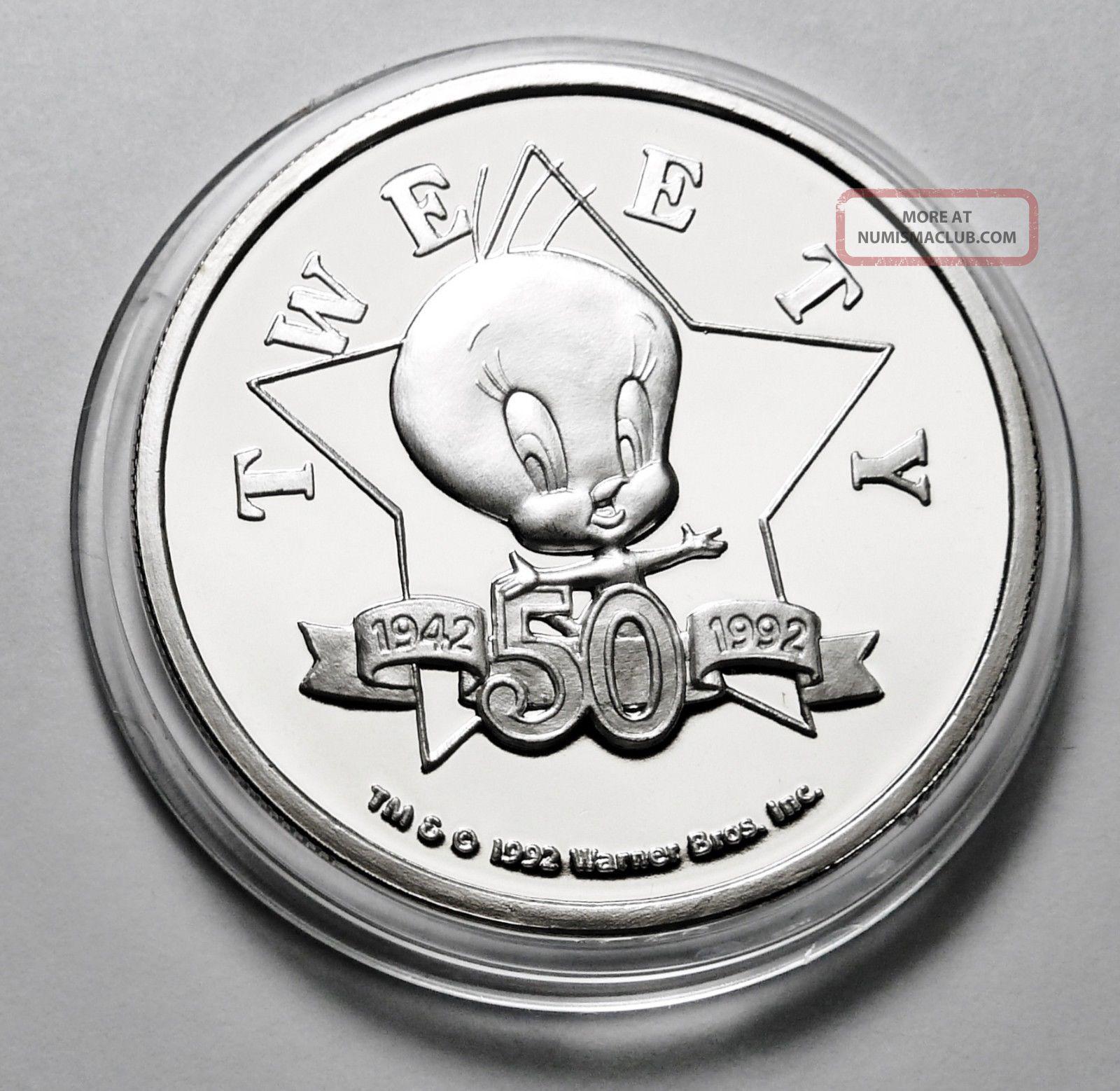 Looney Tunes Tweety Bird 50th Happy Birthday 1 Troy Oz