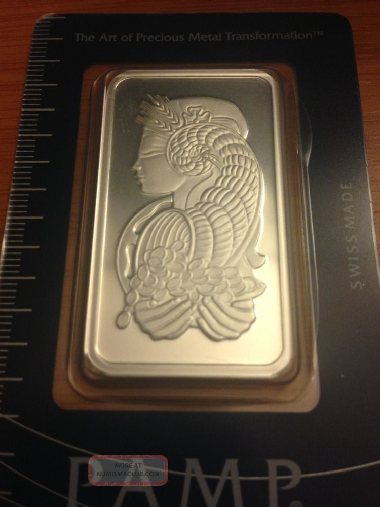 Pamp Suisse One Troy Ounce Pure Silver 999 Silver Bar