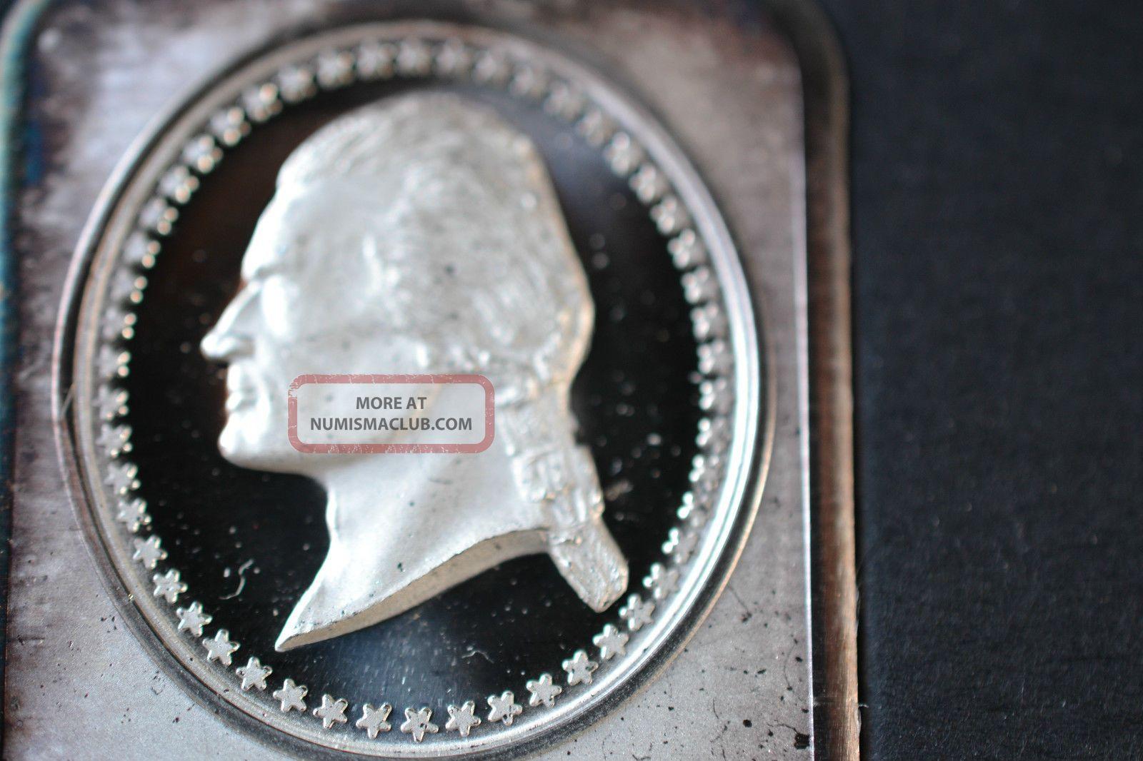 1801 1809 Thomas Jefferson 1 Ounce 999 Fine Silver Art