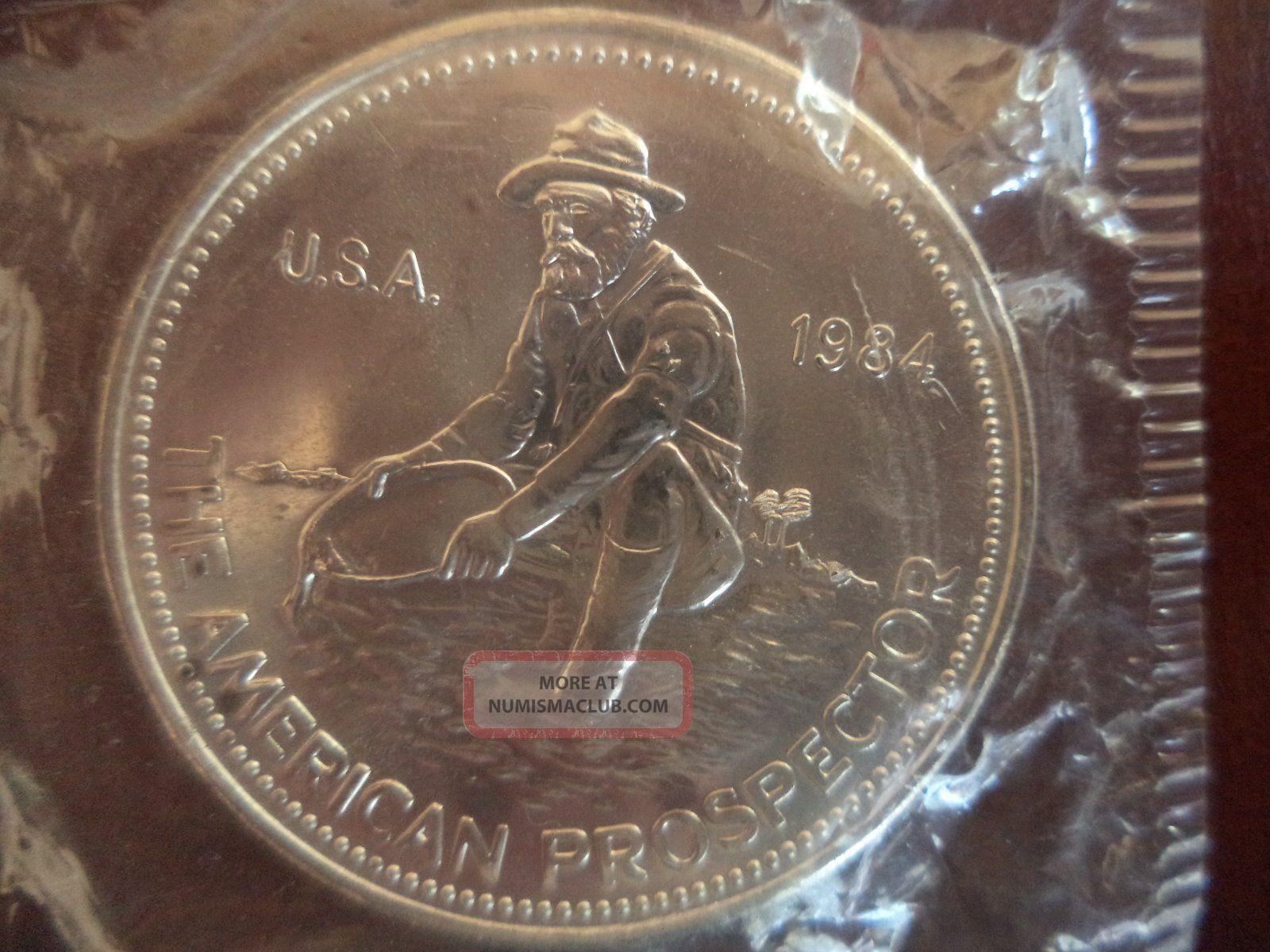 Engelhard 1 Troy Oz 1984 American Prospector 999 Silver