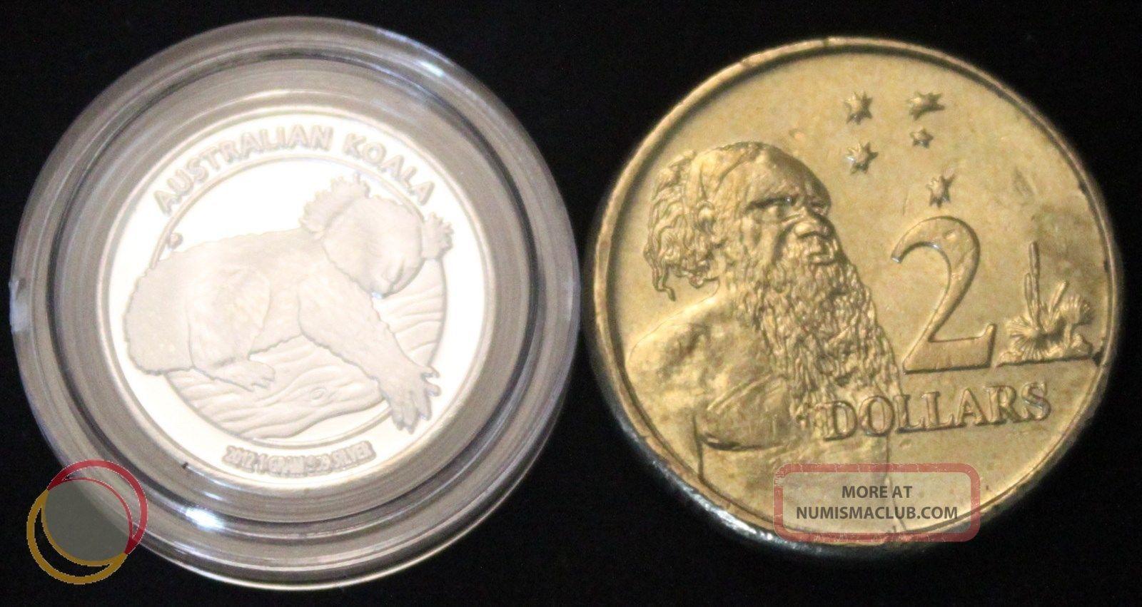 1 Gram Quot Australian Koala Quot 999 Solid Pure Silver Coin