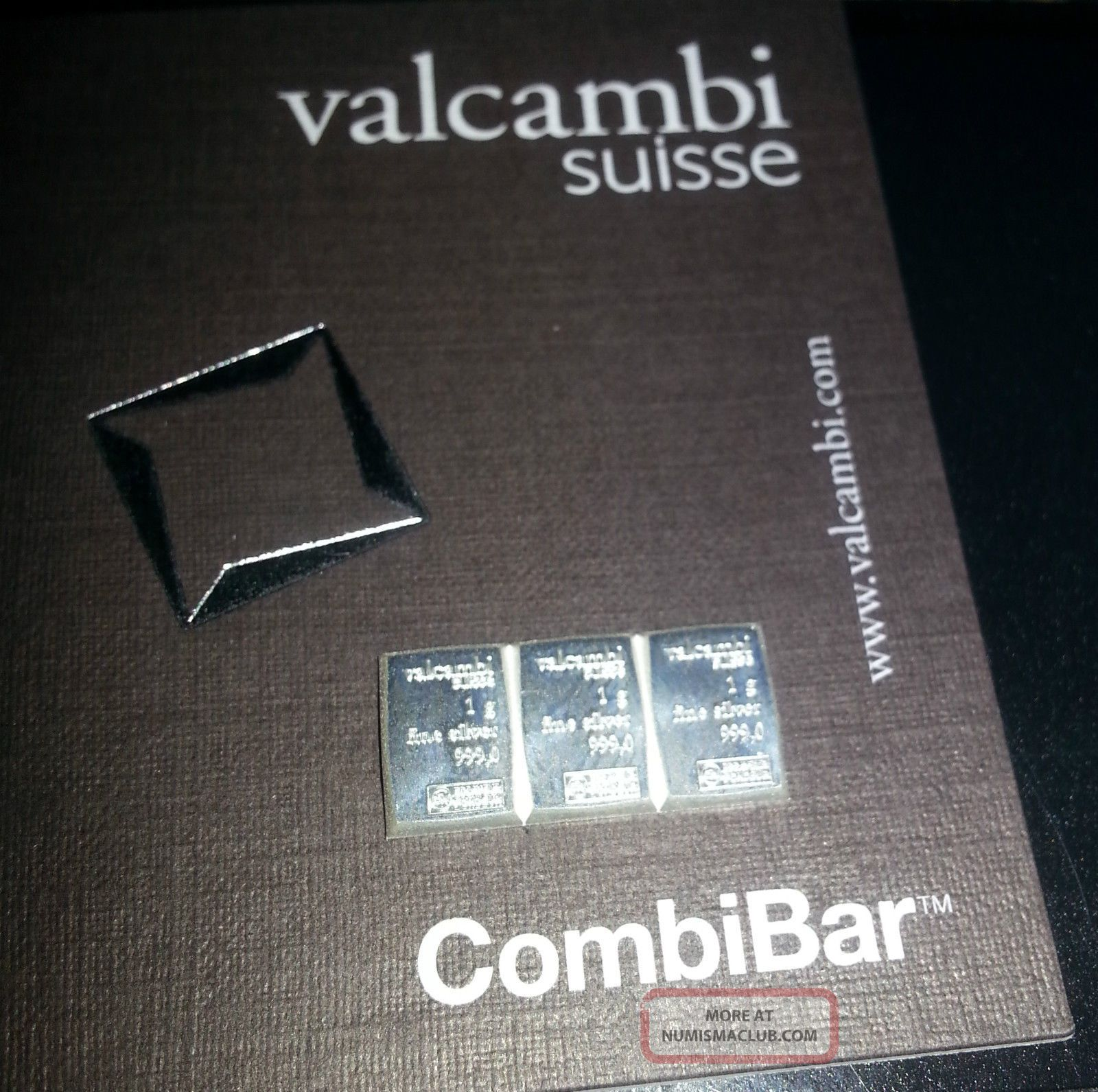 Valcambi Suisse 3 1 Gram Connected Silver Bar