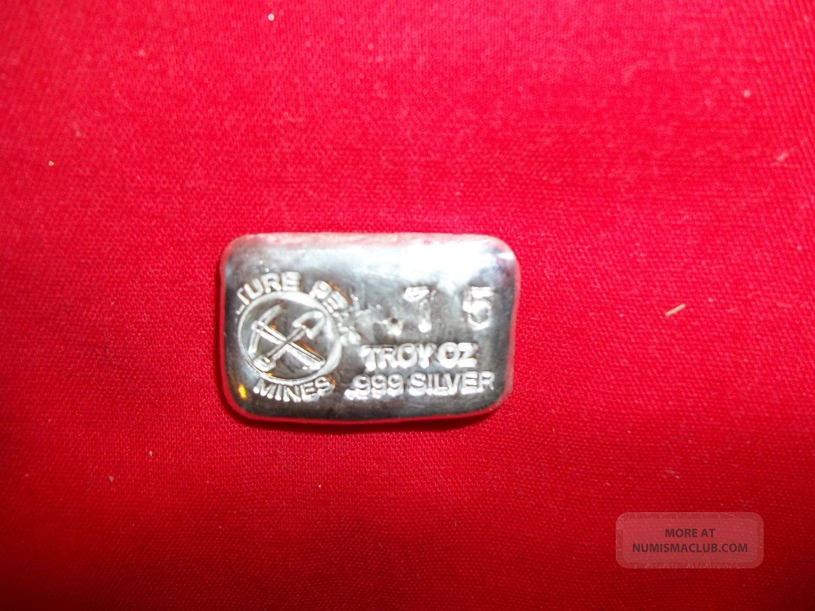 75 Ounce Troy 999 Fine Silver Vulture Peak Mines Silver