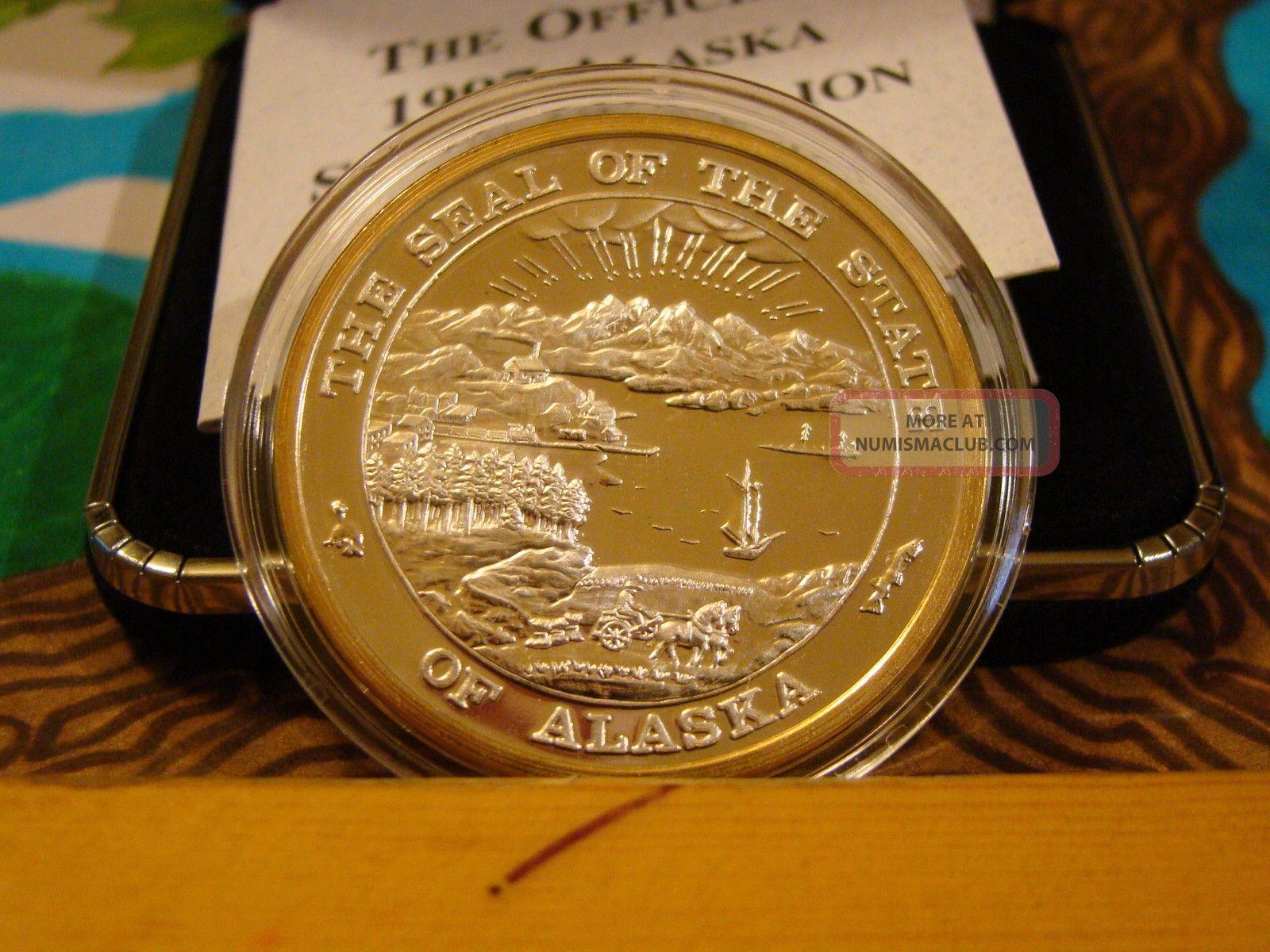 Alaska 1997 Musk Ox Proof Official State Medallion 999