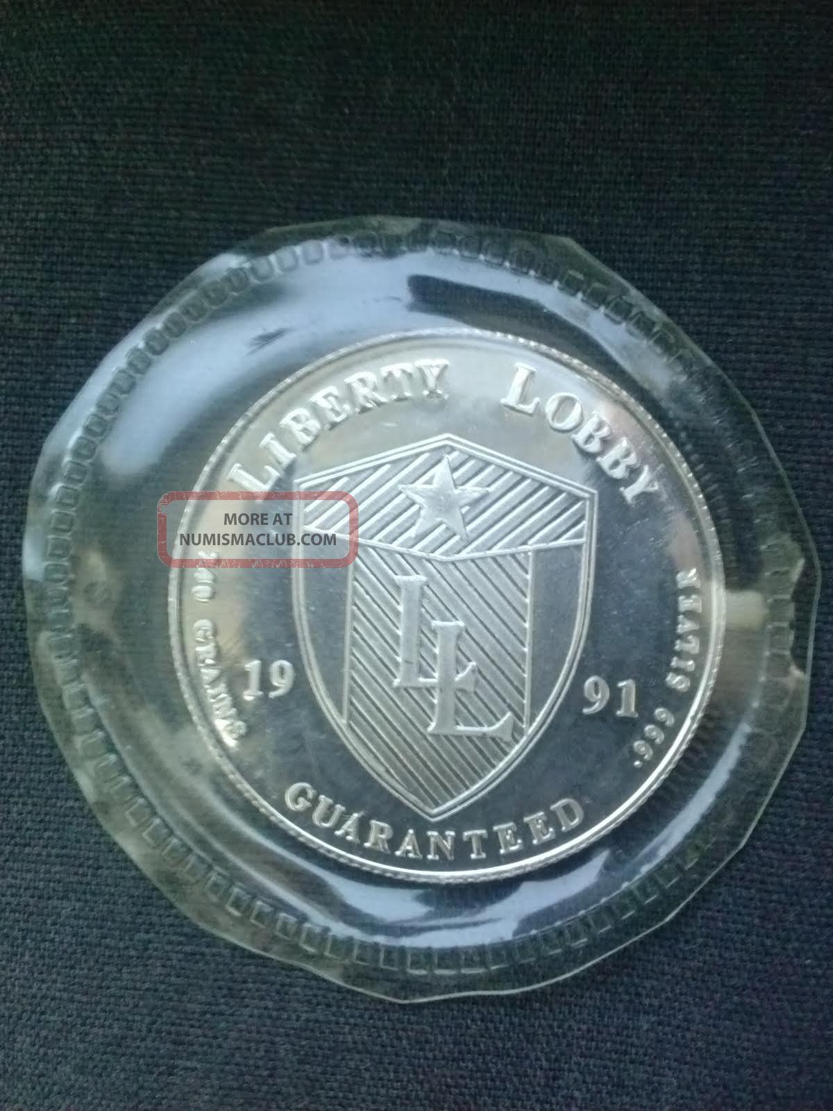 1991 Andrew Jackson Coin Liberty Lobby Half Troy Ounce