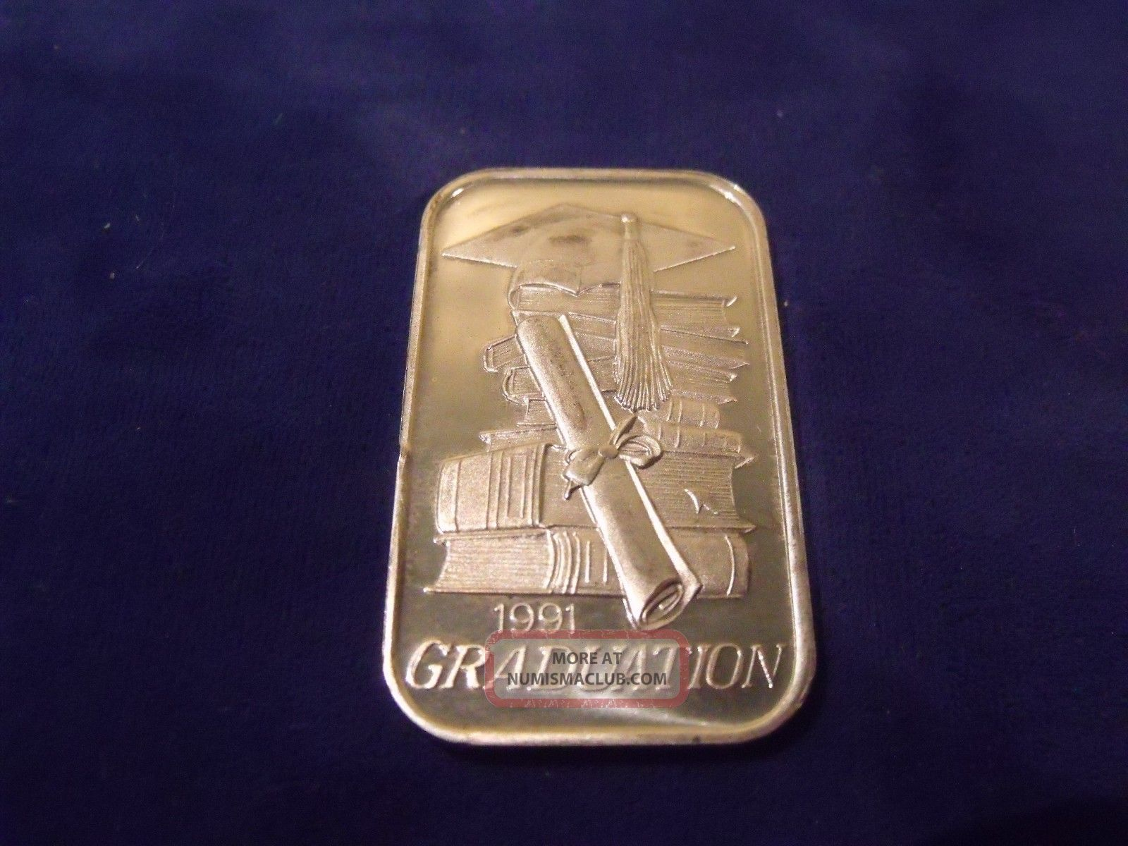 1991 Graduation One Troy Ounce 999 Fine Silver Bar