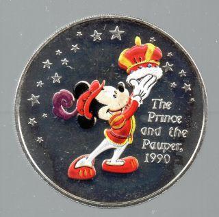 Disney Mickey 75th Anniversary The Prince Pauper 1 Oz 999