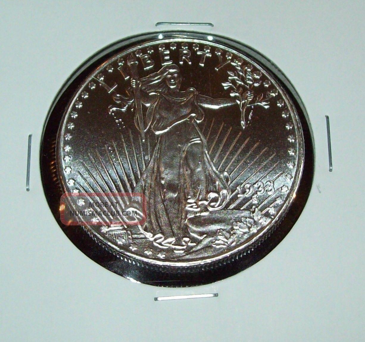 St Gaudens Design 1 Troy Oz 999 Fine Silver Round One
