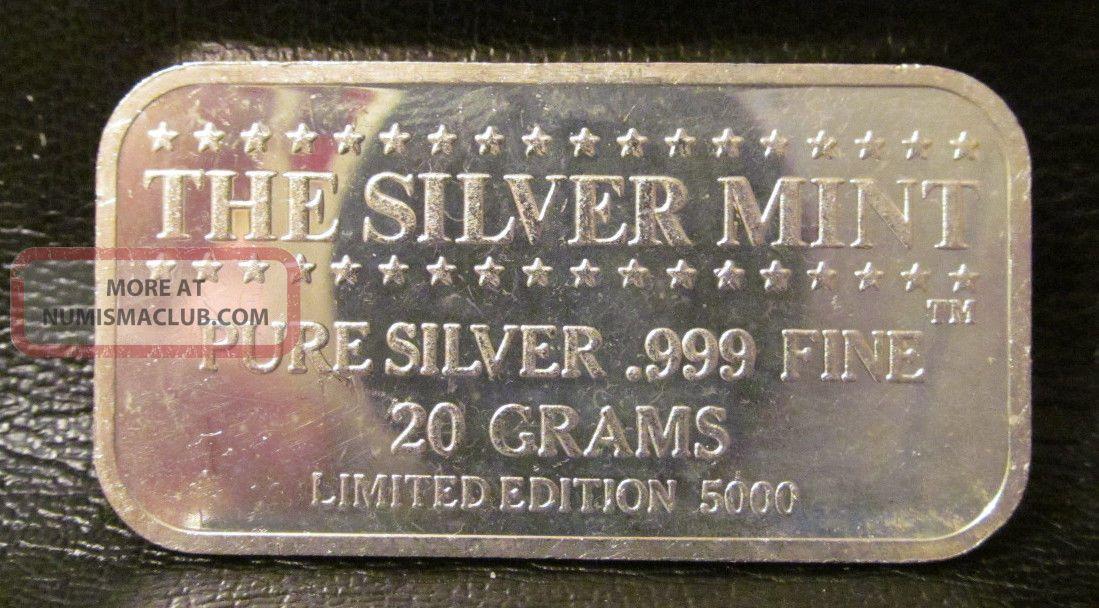 Alexander Hamiltn 999 Fine Silver 20 Grams Silver Bar