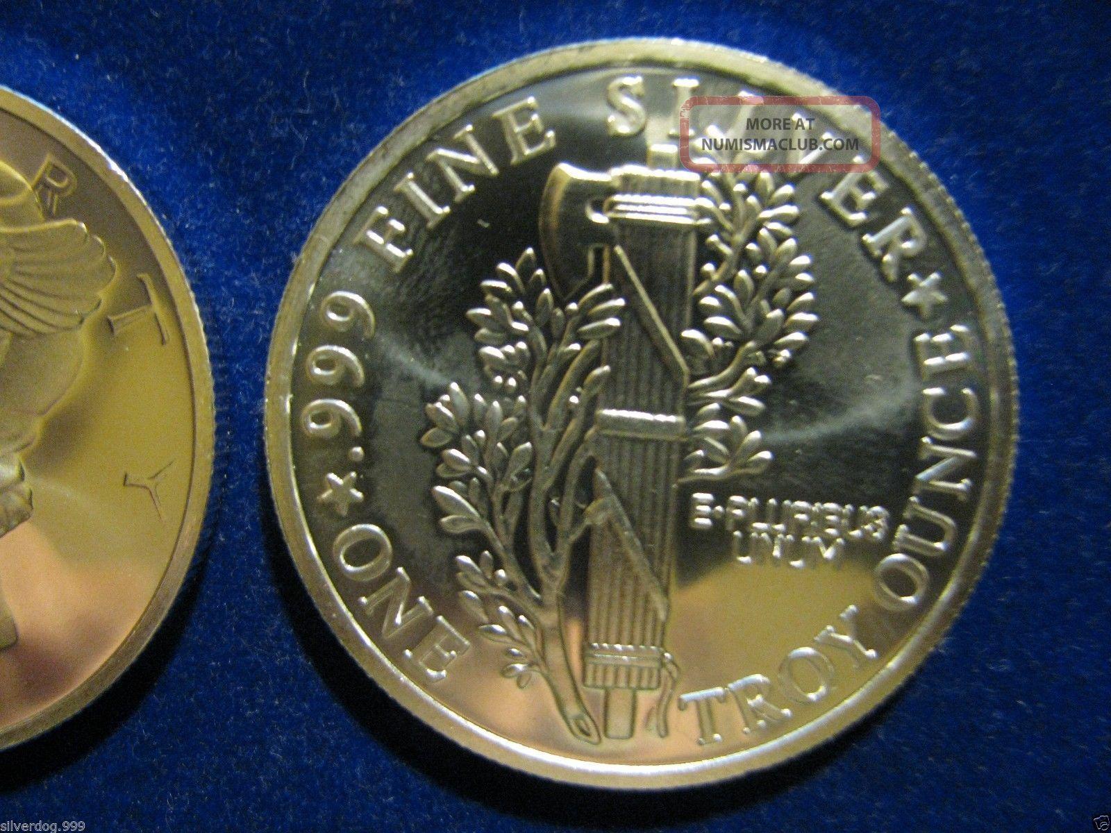 1 Oz Fine Silver One Dollar 1991