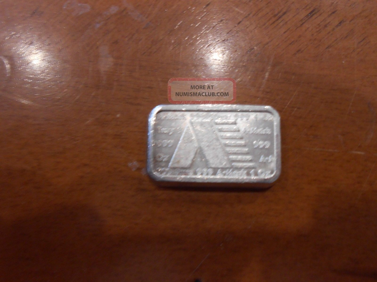 1 Oz A Mark Silver Bar Assay 1981