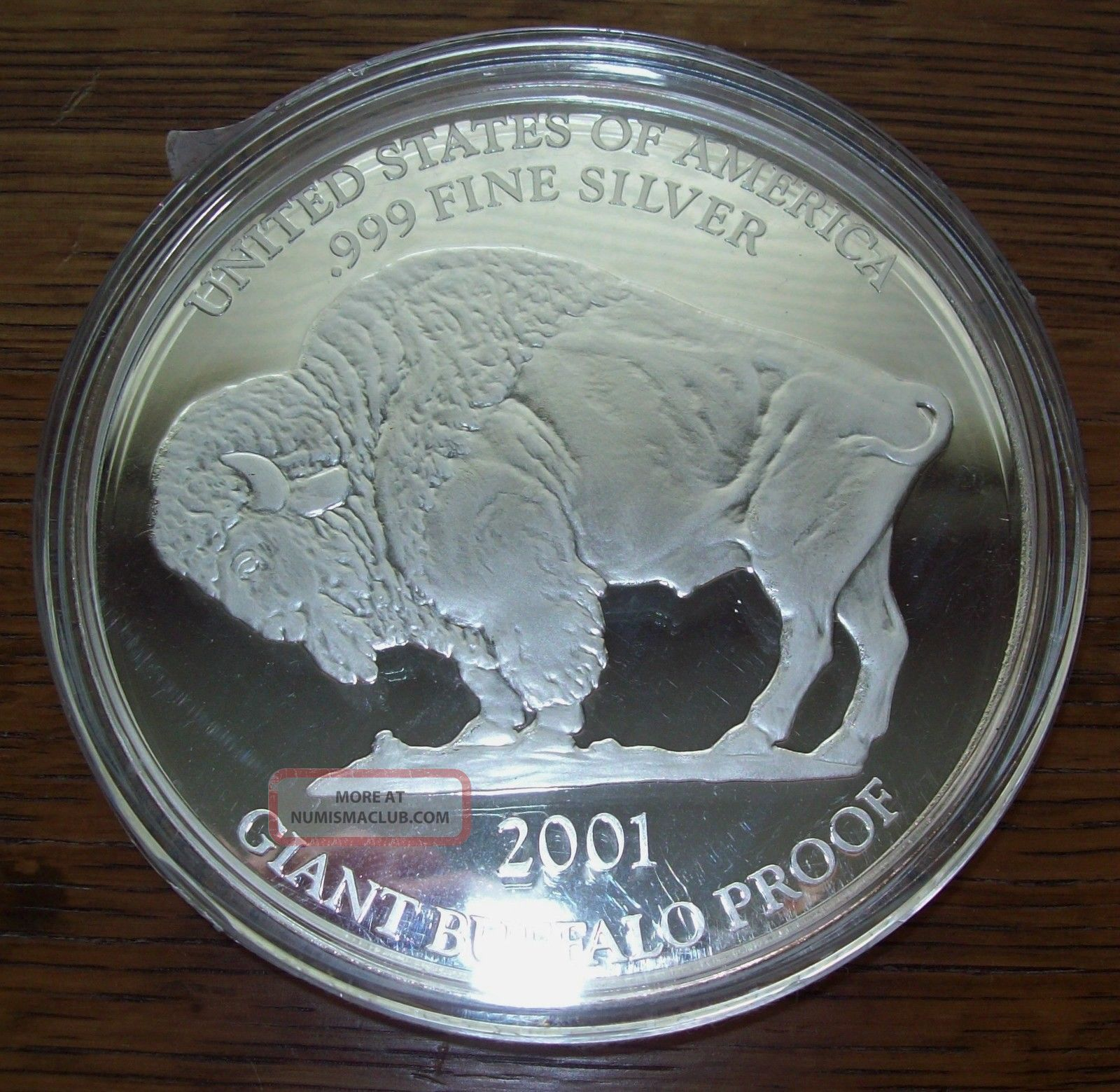 2001 Giant Proof American Buffalo 1 Troy Oz 999 Fine