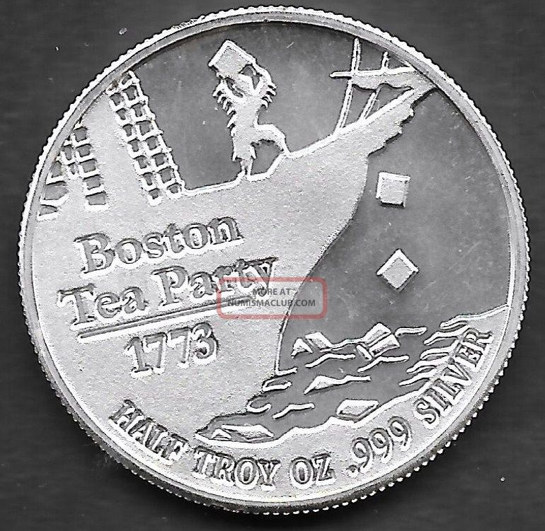 Spstamps Amp Coin Boston Tea Party Dont Tread On Me 1 2 Oz