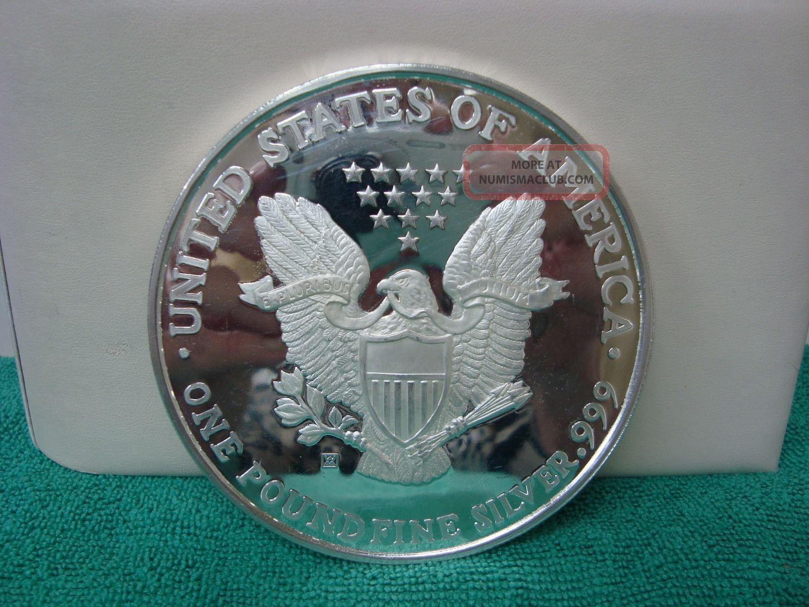 1994 Walking Liberty 1lb 16 Oz Troy 999 Fine Silver Round