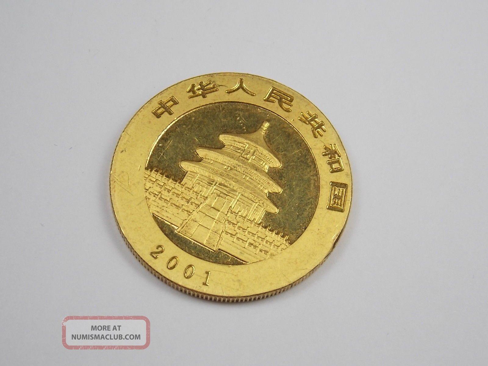 2001 1oz 999 Gold 24k Chinese Panda Bullion Coin