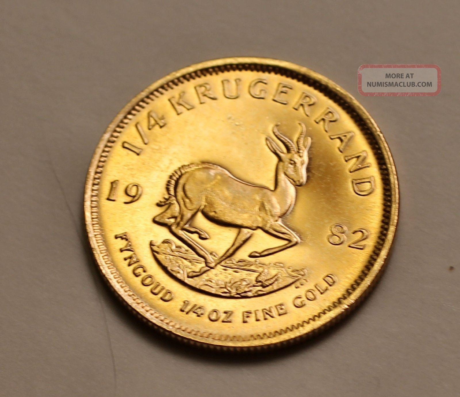 1982,  ¼ Oz South Africa Krugerrand,  Fine Gold Bullion Coin Gold photo