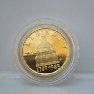 U.  S.  Fine Gold $5 Half Eagle Coin - Congress Bicentennial Commem - photo