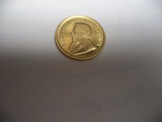 1984 South Africa 1/10 Troy Oz Gold Krugerand Coin photo