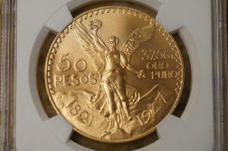 1947 Mexico Gold 50 Pesos