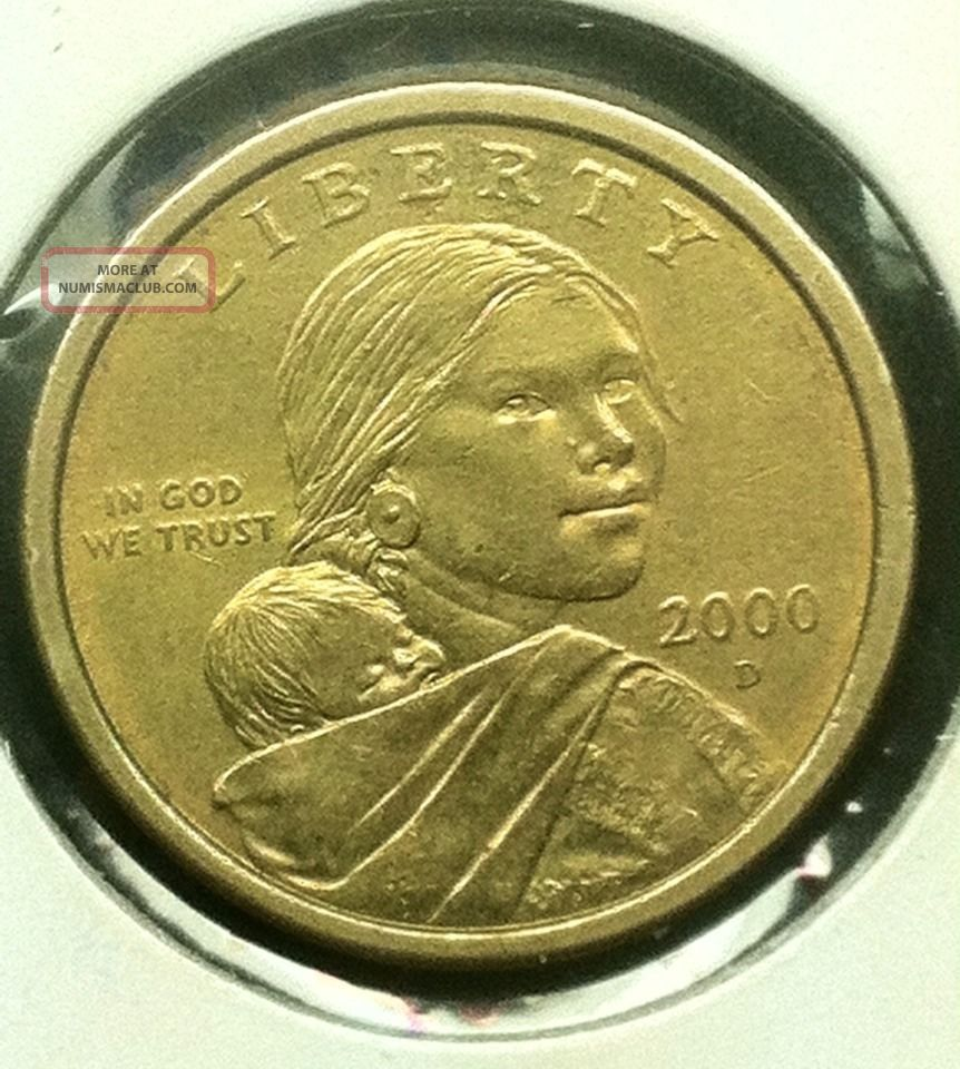 2000 D Sacagawea Gold Dollar Error Double Die Rare