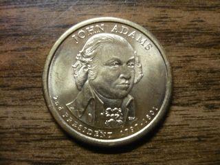 John Adams 2007d Gold Dollar Type 1 Clad Coin 2nd President Denver 359 photo