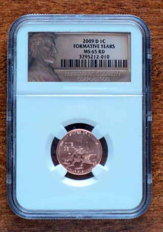 Lincoln Cent 2009 D Formative Years Bicentennial Grade Ms65 Red/ Ngc photo