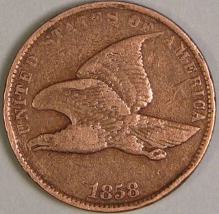 1858 Flying Eagle Cent,  Small Letter,  Fe 109 photo