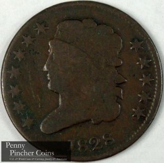 1828 12 Stars Classic Head Half - Cent Great Looking Collector Coin photo