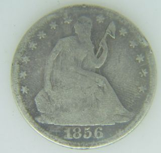 1856 - O Seated Liberty Half Dollar Great Details Clear Date Slhd5601 photo