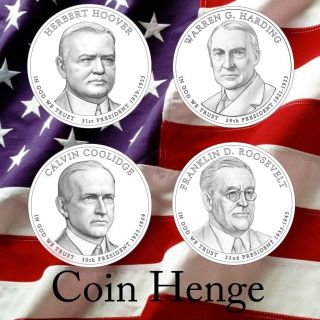 2014 Presidential Dollarcoin Subscription 20p&d Harding Coolidge Hooverroosevelt photo