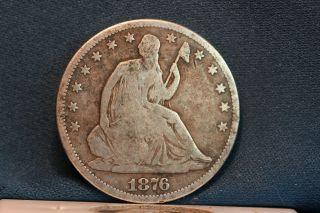 1876 Cc Seated Half photo