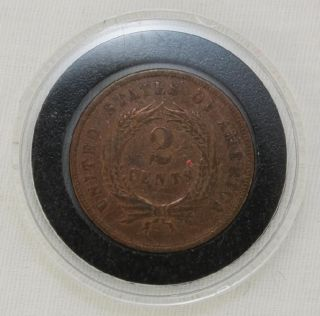 Pcgs 2 Cent Piece photo
