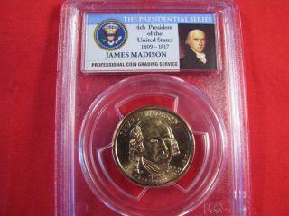 Pcgs Ms65 James Madison 2007p Fdi Pos B $1 Dollar photo