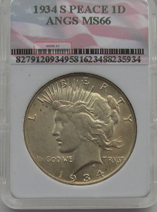 1934 - S Peace Silver Dollar Scarce In Au++ No Problem Coin Dollars photo