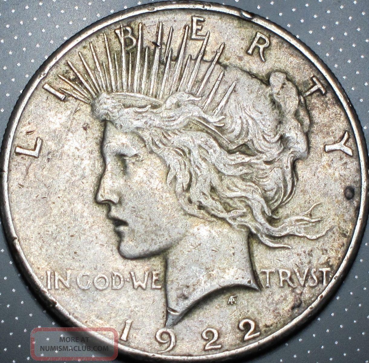 1922 S Peace Silver Dollar Xf Extra Fine San Francisco