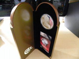 2011 Colt 45 $2 100th Year Anniversary Coin,  1 Oz.  0.  999 Ag,  Nz photo