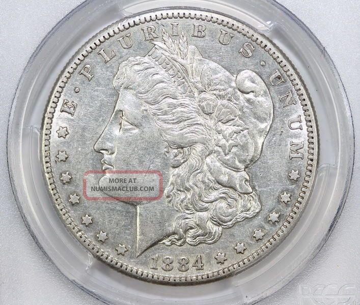 1884 S Morgan Silver Dollar Au 50 Pcgs 0652