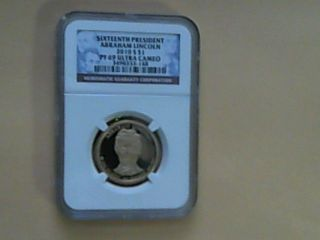 2010 S Proof Abraham Lincoln Presidential Dollar Ngc Graded Pf69 (si1) photo