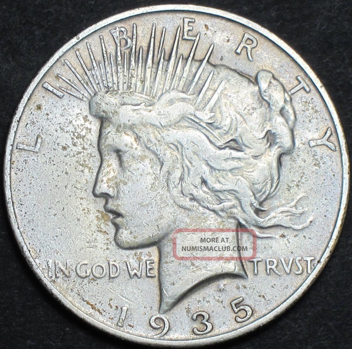 1935 S Peace Silver Dollar Xf Extra Fine Ef Key Date San