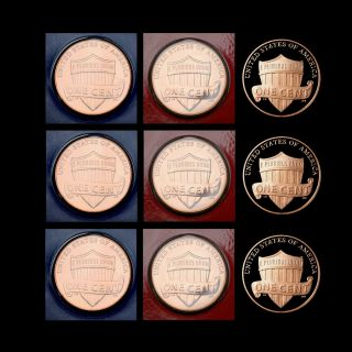 2010 & 2011 & 2012 P+d+s Lincoln Shield Gem Proof & Pd In Wrap photo