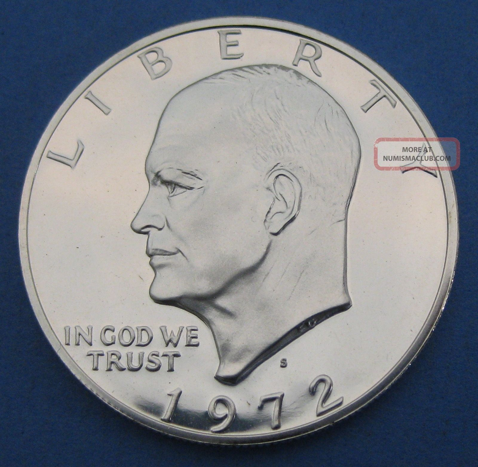 1972 S Silver Cameo Proof Eisenhower Dollar Ddo Double