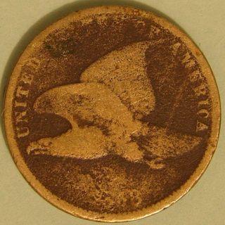 1858 Flying Eagle Cent,  Filler Coin Aj 629 photo