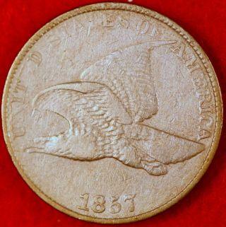 Great Estate Find 1857 Grade Flying Eagle Cent photo